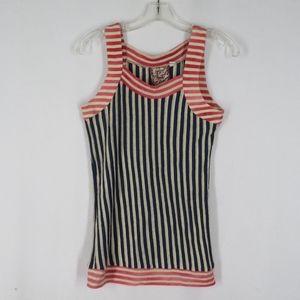 L.A.M.B. Striped Knit Tank Sleeveless Top Small